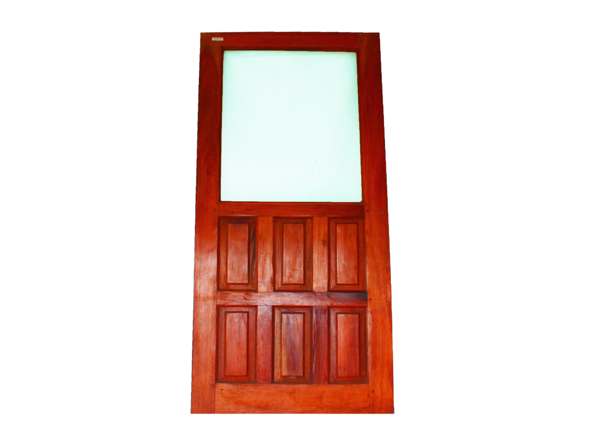 Redwood 6 Panel Glass Door Liberia Woodwork Shop Online In